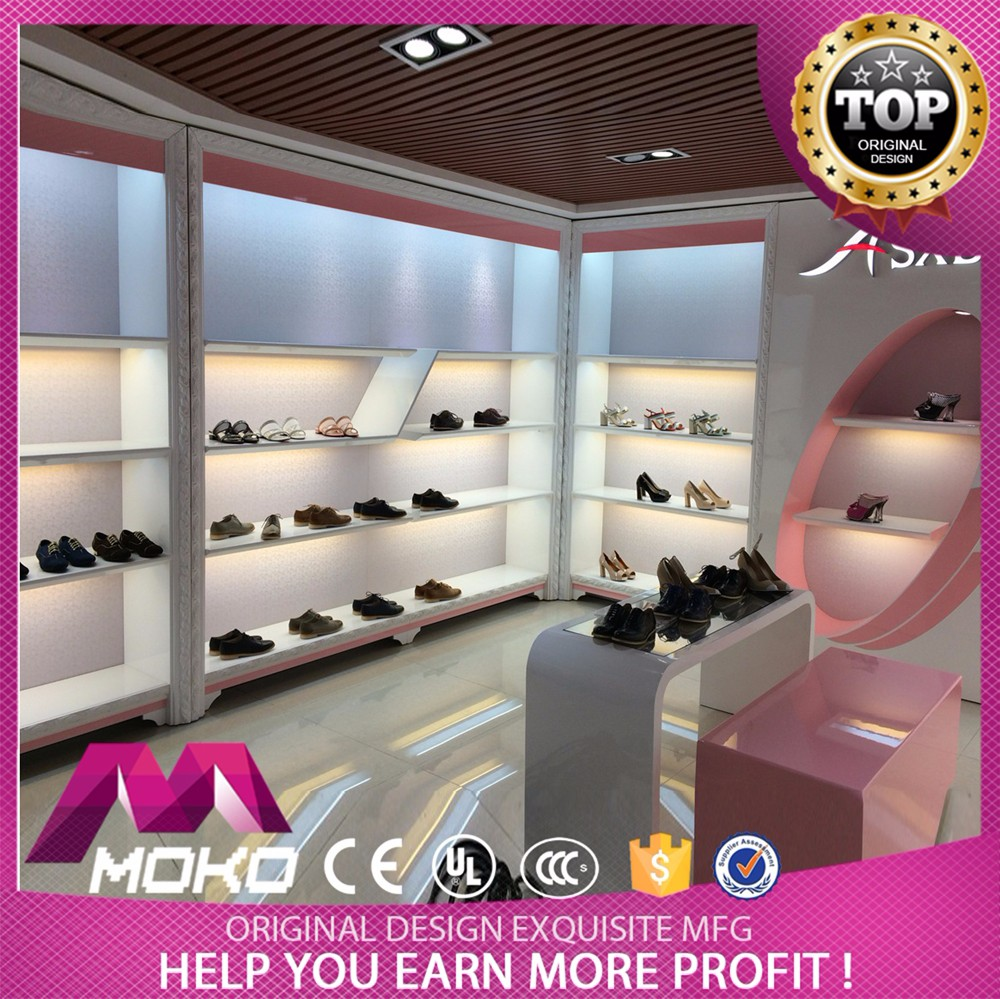 Customizable New Design Shoe Shop Fitting Display Equipment For Shoes