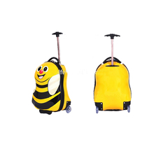 2017 new promotion animal cute kids luggage trolley for kids