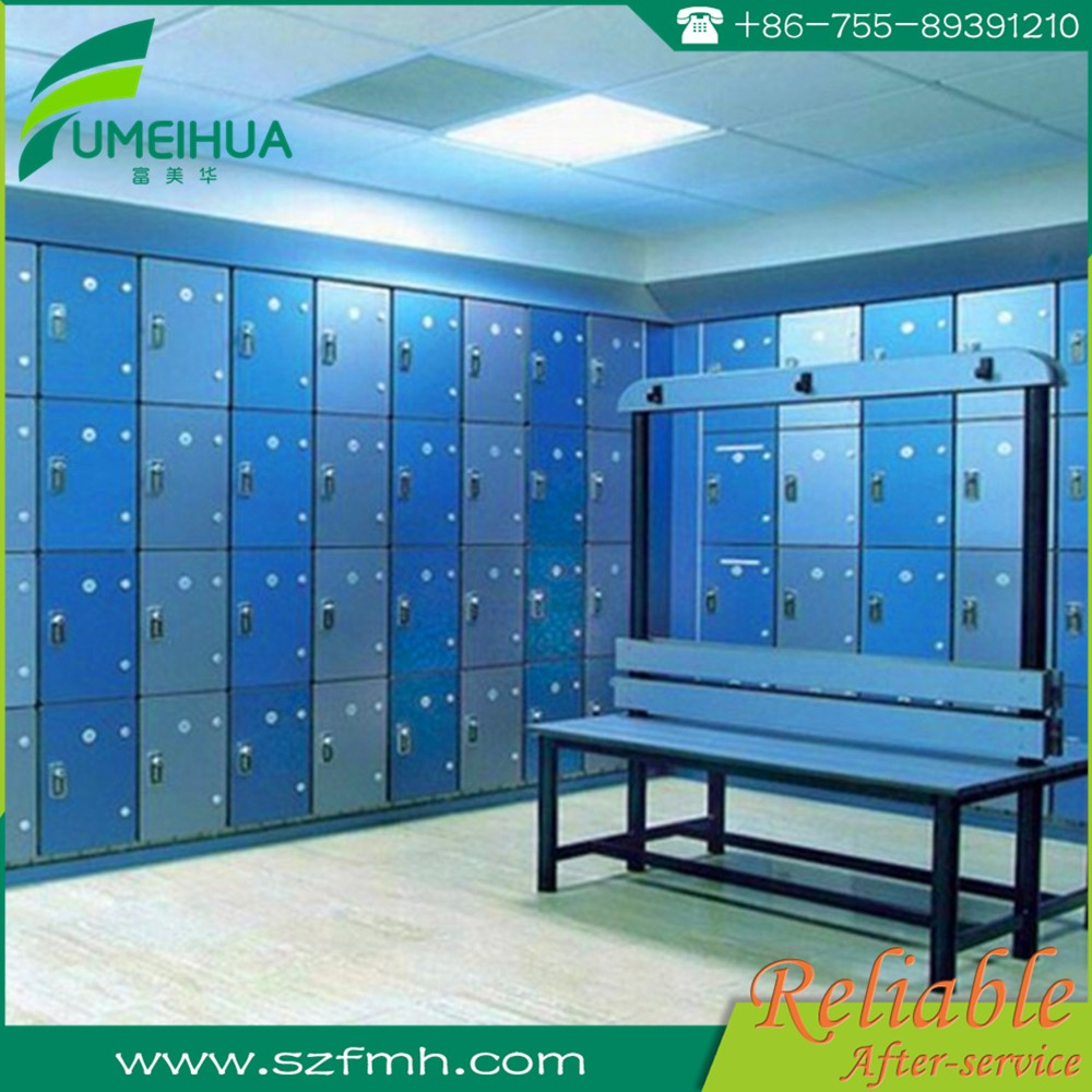 water resistant compact laminate locker for gym , school , spa ,sport center