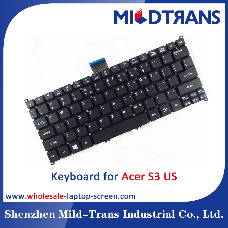Wholesale price laptop keyboard for for ACER AO725 S3 US layout