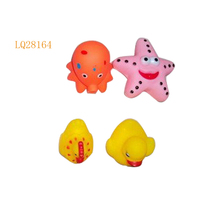 SOFT PLASTIC TOY novelty toys gift for kids bathe toys play with family members Wholesale