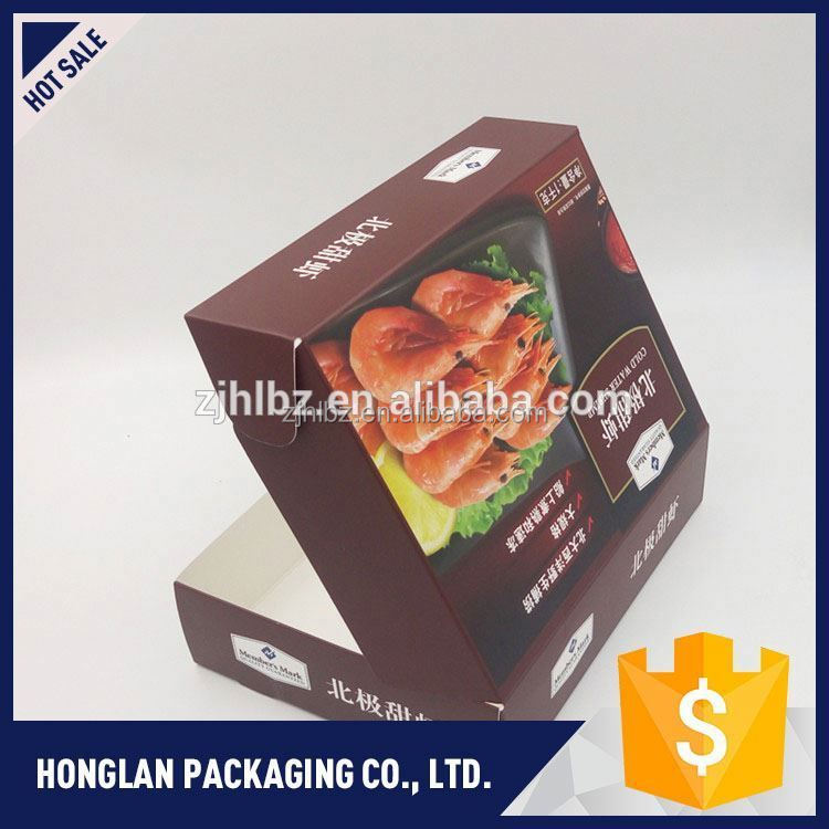 Newest sale custom made wax coated paper food box manufacturer