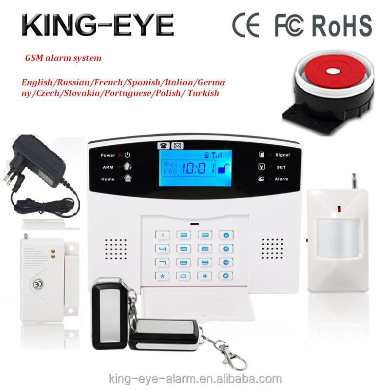 Promptly English/Spanish voice instruction auto dialer door chain alarm with sms function