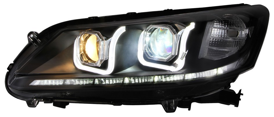 custom led headlight for 9th generation Honda Accord 2013-2014 with xenon light