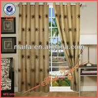 100% Polyester home delivery fast curtain embroidery Sheer Curtains For Hotel