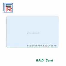 125 khz EM/TK4100 chip read only rfid card with custom CMYK printing