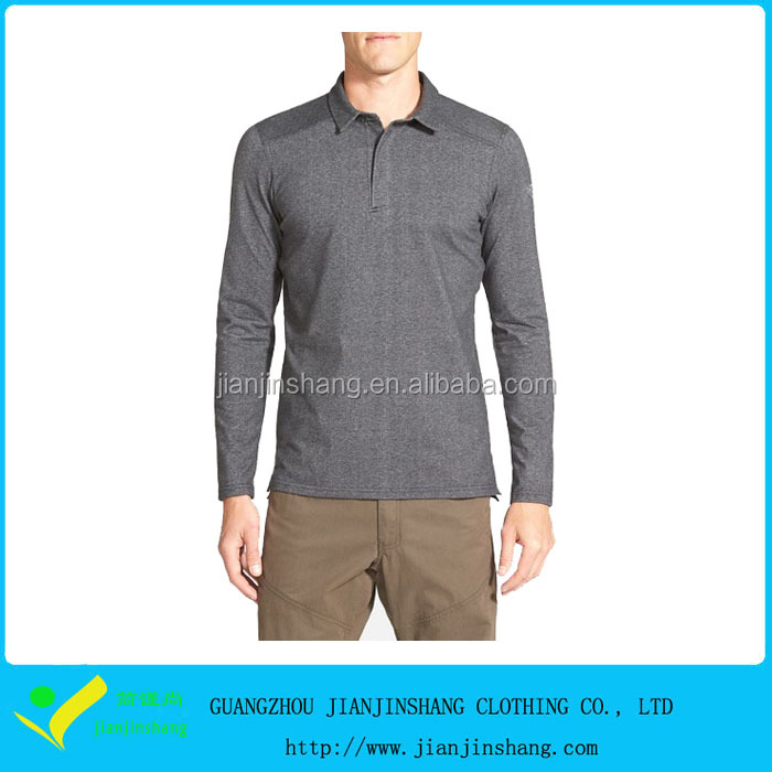 Hot Selling Men's Trim Fit Performance Long Sleeve Polo