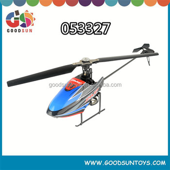 Single rotor blade electric rc helicopter flybarless 6- axis gyro 3 speed (H/M/L) 3CH/4 CH Switch 053327