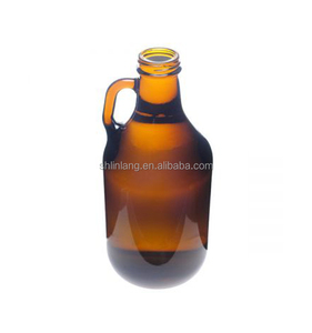 Shanghai Linlang Wholesale 32oz 1L Capacity Growler Beer Glass Bottle