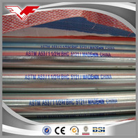 Building material hot dip galvanized steel pipe for fence post