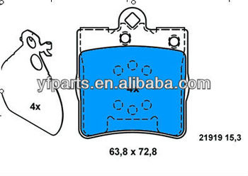 Brake Pad for benz 002 420 74 20 W203 W210