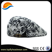 Sublimation Printing Brown Newsboy Beret Cap Hat Cabbie Hunting Military Army