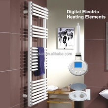 Comfort heated electrical towel warmer digital control heating elements