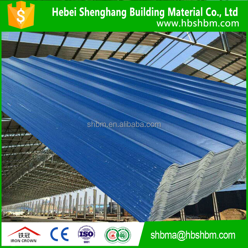 three layers fiber glass mesh fireproof pet membrane anti-corrosion magneium oxide light weight roofing tiles