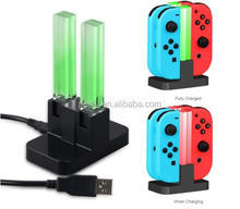 FOR Nintendo Switch Controller ChargerJoy-Cons Charging Dock Station with 4 Charging Dock + LED indication