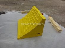Safety Polyurethane PU Wheel chockTruck Stopper for Wheel blocks Stop trucks