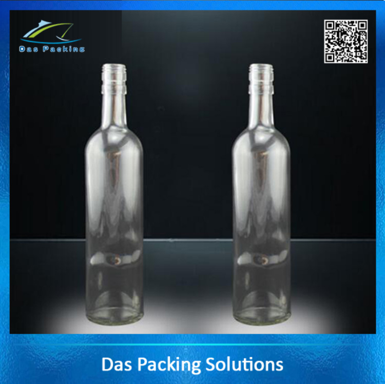 Super flint empty liquor vodka drinking glass bottles 500 ml wholesale
