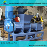 Plastic recycle pelleztizing granulators producing line using film dewatering machine to dry PE PP PET pellets