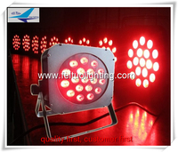LED Flat Par 18x 10W RGBW DMX Stage Lights Business Lights High Power Light with Professional for Party KTV Disco DJ
