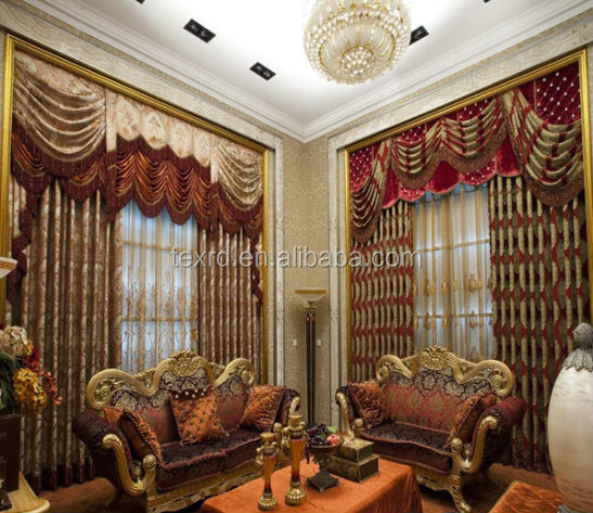 2014 Luxury Curtain Design With Fancy Valance