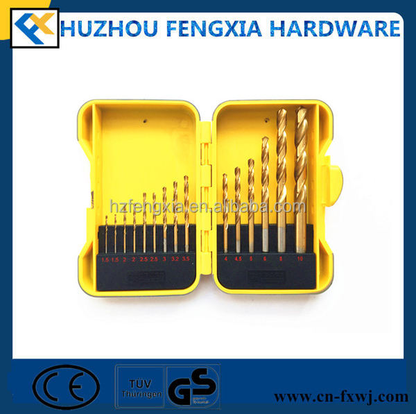 FX08004 15Pcs HSS Twist Drill Bit Set for Sale
