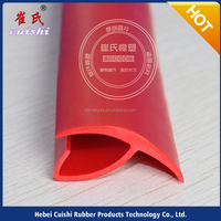 reusable plastic round trucks special seal container rubber bumper shaft strip