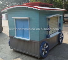 2013 Newest outdoor street solid wood food vending cart/ vending booth/ vending kiosk