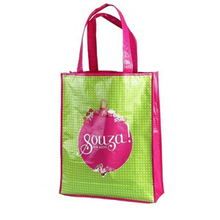 2015 Fashion Lady Reusable Tote bag PP non woven grocery shopping bag Laminated