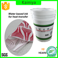 water based 3D effect transfer printing white rubber ink for silk