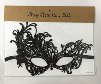 custom lady's lace party mask of sexy cutout halloween masquerade veil