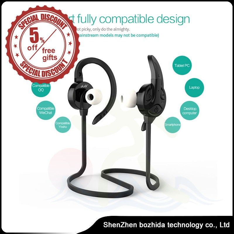 New Style China Factory S502 Headset in-ear earphone waterproof Bluetooth headset with mic