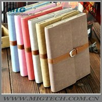 High end Leather bag Case for Ipad 2 3 with belt, leather case for ipad 3, for ipad3 case