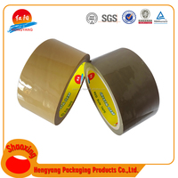 Top Grade Single Sided Colored Print Packing Tape Brown 48Mm Self Adhensive Coffee Tan Opp Adhesive