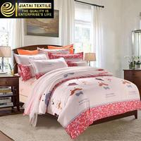 cute girl 100% cotton bed sheets,bright color comforter sets,new bed sheet design