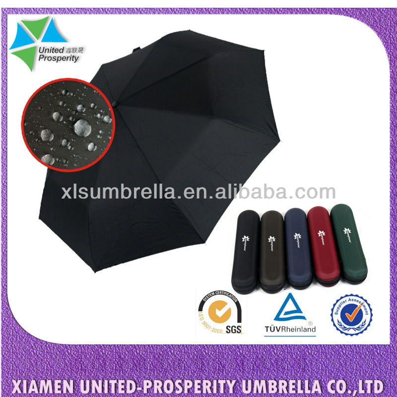 teflon business man automatic 3-fold case umbrella