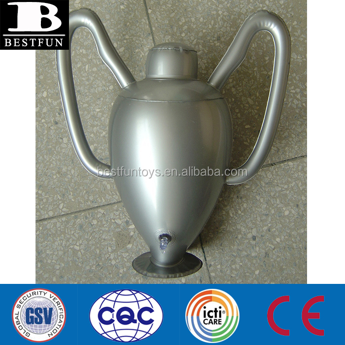 Promotional customized OEM PVC inflatable UEFA champions League European cup trophy cup