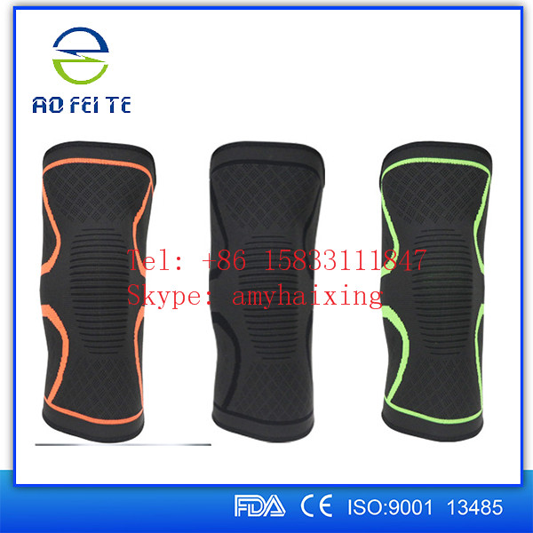 Nylon recovery compression knee sleeve Sports knee supports