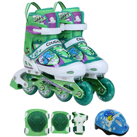 Green Color Elephant Image Kids Skate