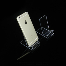Clear acrylic mobile phone display stand rack