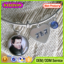 Custom kit recessed blank tray bezel setting photo frame pendant for bracelet #B043