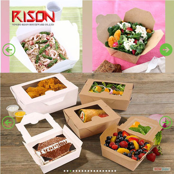 paper food box kraft paper food container take away food box biodegradable food paper box