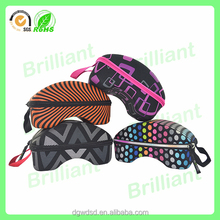One Color Logo Printed Custom Glasses Case with Microfiber bag