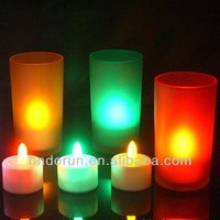 Wholesale Flameless Led Tea Candle Light with cups