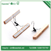 Cheap hot selling wooden pant hangers/high quality wooden trouser hangers/special shape use display beautiful wood skirt hanger