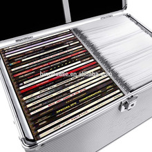 Large Capacity DVD Storage and Vinyl Record Case With Lock