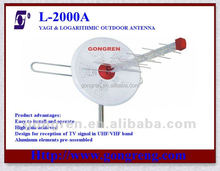 Best Outdoor UHF/VHF dual band tv antenna L-2000