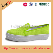 insgear china shoes factory famous brand canvas female shoes