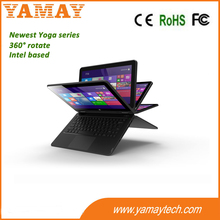 factory customize newest yoga series 360 degree rotate netbook 11.6 inch Intel Z8300 quad core 3g wcdma tablets 2GB RAM 32GB ROM