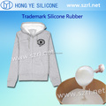 Skin safe silicone rubber for silk screen printing