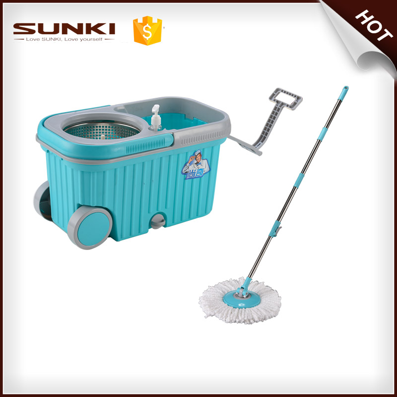 Steel Pole Material and Magic Handle Type household cleaning mop